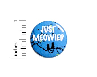 Just Married Button Cat Puns Just Meowied Cute Wedding Reception Favor Pinback Unique Cats In Love Goodie Bag Pin 1 Inch #69-1