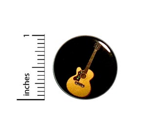 Acoustic Guitar Button Jacket Backpack Pin Singer Songwriter Music Shows Indie Rock Pinback  1 Inch #37-10