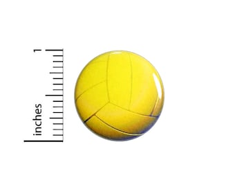 Water Polo Ball Button // Team Water Sports Pin // Backpack or Jacket Pinback // Lapel Pin // 1 Inch 91-15