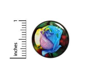 Wedding Button Rainbow Rose Cool Unique Backpack Jacket Pin Awesome Rad Love 1 Inch #38-2