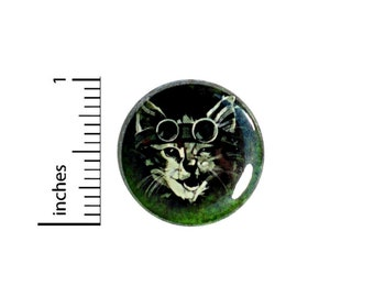 Steampunk Cat Button // Backpack or Jacket Pinback // Funny Cool Pin //  1 Inch 7-11