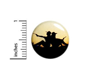 Cool Cowboy Gunslinger Button Western Pinback Jacket Backpack Pin Nerdy 1 Inch #1-29
