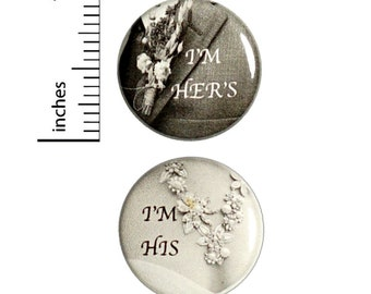 Wedding Reception Buttons 2-Pack // Cheap Table Favors // Elegant Pins Set of 2 // 1 Inch Pins 12-20-29