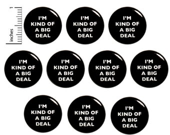 """Positive Pins or Fridge Magnets (10 Pack) I'm Kind of a Big Deal, Motivational Buttons or Magnets, Team Building Employee Gifts  1"""" 10PS9-14"""