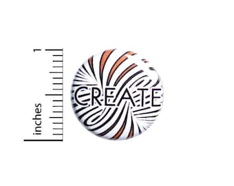 Create Artist Button Pin or Fridge Magnet, Backpack Pin, Lapel Pin, Do Your Art Pin, Pin-Back, Button Cool, Artistic Gift, 1 Inch SP2-5-1