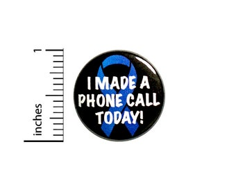 Cute Funny Introvert Button // Backpack Pin // Hate Making Phone Calls // Badge // Brooch // Lapel Pin // Cute Introvert Gift 1 Inch #84-11
