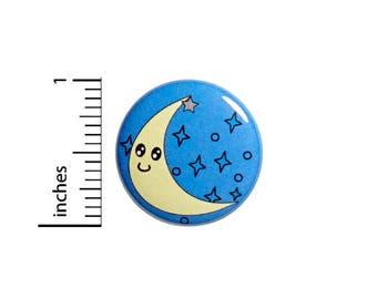 Cute Button Moon And Stars Cartoon Style Jacket Backpack Pin Pinback 1 Inch #55-24