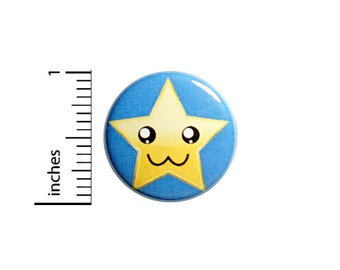 "Star Student Button, Pin or Fridge Magnet, Star Pin, Backpack Pin, Little Gift, Cute Button, Star Student Gift, Button or Magnet, 1"" 85-32"