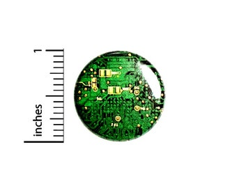 Computer Graphic Button // Cosplay Pin for Backpacks or Jackets // Nerdy Geeky Badge // Pin 1 Inch 3-21