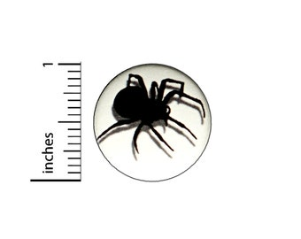 Spider Spooky Button // Backpack or Jacket Pinback // Lapel Badge Cute // Pin 1 Inch 6-15