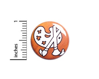 Painter Artist Button Pin or Fridge Magnet, Backpack Pin, Lapel Pin, Paint Palette Pin, Pin-Back, Button Cool, Artistic Gift, 1 Inch SP2-5-3