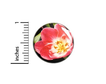 Tulip Flower Button Pin for Backpacks or Jackets Pinback Cool Badge Lapel Pin Pink Floral Nature 1 Inch 88-22