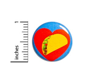 I Love Tacos Button Pin Badge Awesome Rad Jacket Pinback Taco Food Trucks Cute 1 Inch #70-26