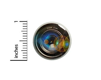 Camera Lens Button Photographer Cheap Gift Cool Photography Bag Pin 1 Inch #37-4