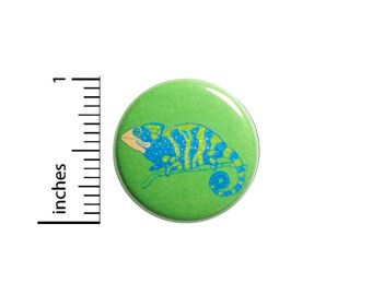Chameleon Lizard Button Backpack Pin 1 Inch #82-16