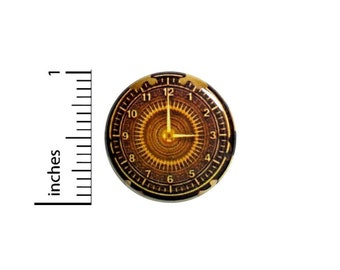 Steampunk Clockwork Button // Victorian Pin // Steampunk Clock Pinback // Pin 1 Inch 11-10