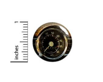 1 Inch Pinback Button Vintage Gauge Speedometer Steampunk Dieselpunk Book Bag Pin