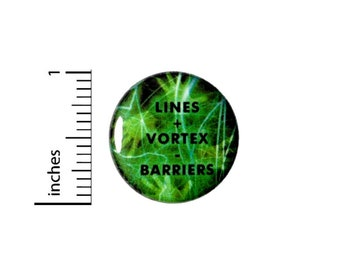 Lines Vortex Barriers Button // Backpack or Jacket Pinback // Geeky // Ghosts // Spooky Fan // Pin 1 Inch 10-7
