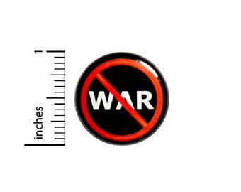 Anti-War Button, No War Pin, Backpack Pin, Lapel Pin, Pacifist Pin, Peaceful Protest, Lapel Pin, Protestor Badge, Gift, 1 Inch 2-13