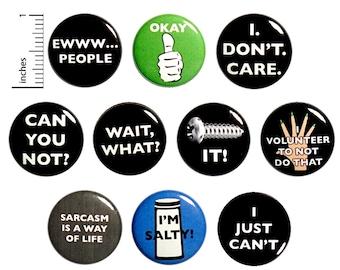 Sarcastic Backpack Pins
