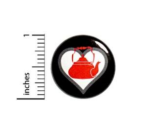 Cool It's Tea Love Button Badge Tea Drinker Gift Pin Cute Geeky Nerdy 1 Inch #50-31 -
