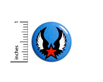 Cool Button Griffin Style Wings Tattoo Biker Style Jacket Backpack Pinback 1 Inch #61-22  -
