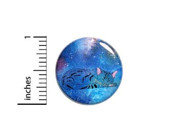 Funny Button Cat Sleeping In Outer Space Cute Pin Jacket Pinback 1 Inch Gift #41-31