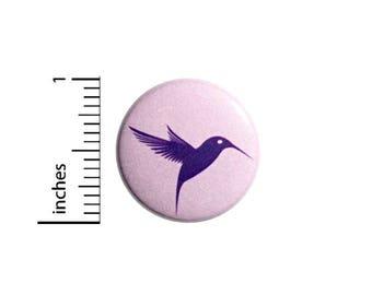 Cool Purple Lavender Hummingbird Button Rad Cute Jacket Backpack Pin 1 Inch #47-6