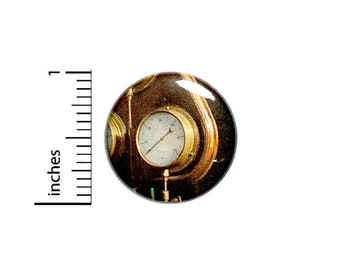 Steampunk Gauge Button // Vintage Dieselpunk Pinback // Cosplay Backpack Book Bag Pin // 1 Inch 13-27