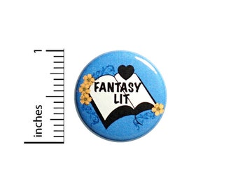 Love Fantasy Lit Button Backpack Pin 1 Inch #85-9