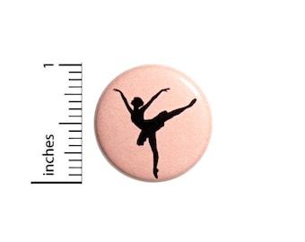 Ballet Button Dance Bag Pin Backpack Badge Ballerina Dancer Pretty Pink Recital Performance Little Gift Cute Jacket Pin 1 Inch 1 Inch #51-10