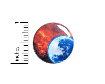 Blue Planet Red Sky Button Pin or Fridge Magnet, Space, Backpack Pin, Lapel Pin, Sci-Fi Pin, Space Pin-Back, Button Cool, Gift, 1 Inch 95-27