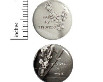 Wedding Reception Buttons 2-Pack // Cheap Table Favors // Elegant Pins Set of 2 // 1 Inch Pins 12-28-30