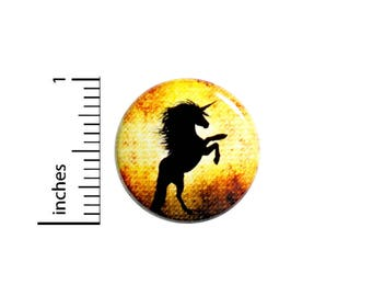 Unicorn Button Pin Vintage Style Background Rad Jacket Backpack Pin 1 Inch #54-28
