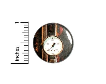 Steampunk Gauge Button //  Backpack or Jacket Lapel Pin // Button Dieselpunk // Pinback 1 Inch 3-28