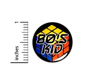 Retro 80s Button // for Backpack or Jacket Pinback // Cool Nostalgia // Badge Gift Pin // 1 Inch 8-24