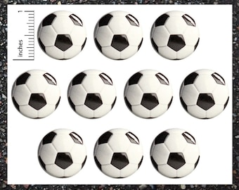"Soccer Balls Buttons, Sport Pins (10 Pack), Soccer Party Favors, Pinback Buttons or Magnets Set of 10, Sports Balls, 1"" 10PS66-26"