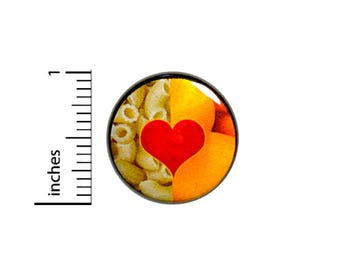 I Love Macaroni & Cheese Awesome Nerdy Geeky Button Pin Pinback 1 Inch Gift #40-14