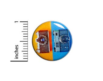 Vintage Cameras Button Cute Cool Photographer Gift Camera Bag Pin 1 Inch #39-28