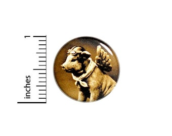 Button When Dieselpunk Pigs Fly Pig With Goggles Aviator Flight Pin1 Inch Steampunk