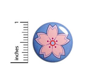 Flower Button Pin Pink Purple Pretty Badge Cool Rad Backpack Jacket 1 Inch #49-10