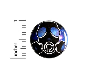 Gas Mask In Space Button // for Backpack or Jacket Pinback // Apocalypse Sci Fi Pin // 1 Inch 12-6