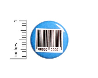 Barcode Button Original Human Backpack Pin Pinback Random Cool Random Funny Nutty Different Odd Bizarre 1 Inch #65-14