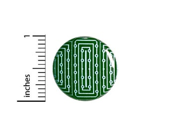 Computer Graphic Button // Cosplay Pin for Backpacks or Jackets // Nerdy Geeky Badge // Pin 1 Inch 3-22