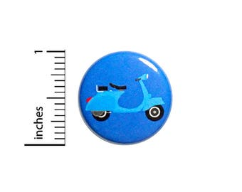 Cool Blue Scooter Button Vintage 60's Style Pin Backpack Pinback 1 Inch Gift #41-24
