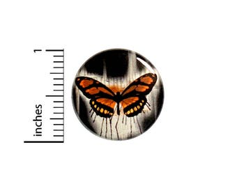 Cool Butterfly Button Pretty Dark Emo Goth Jacket Backpack Pin Pinback 1 Inch #54-30