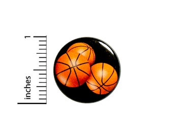 Basketball Button Backpack Pin Pinback #85-14