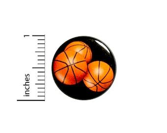 Basketball Button Backpack Pin Pinback #85-14