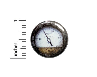 1 Inch Pinback Button Vintage Gauge Backpack Book Bag Pin Dieselpunk Steampunk