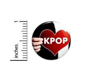 K Pop KPop Button Korean Music Geekery Backpack Jacket Pin Pinback Nerdy 1 Inch